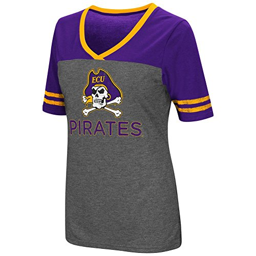 Colosseum Ladies Mctwist ECU East Carolina University Jersey T Shirt (Medium)