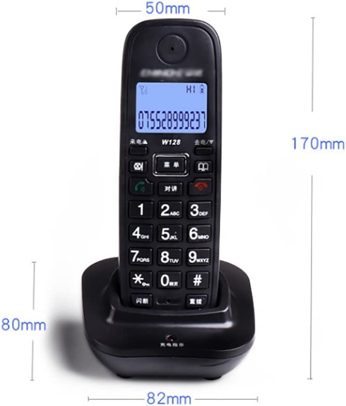 Color : Black Big Button Corded Phone for Elderly Amplified Phones for Hearing Impaired Seniors with Loud Handsfree Speakerphone- White//Black JDHFKS Corded Phone Caller ID