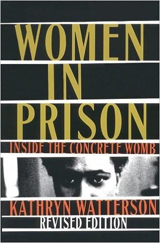 Women In Prison: Inside the Concrete Womb: Kathryn Watterson