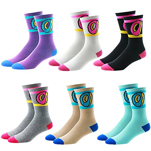 Sherry007 Unisex Donuts Cotton Long Socks Fashion Hiphop Skateboard Sport High Socks