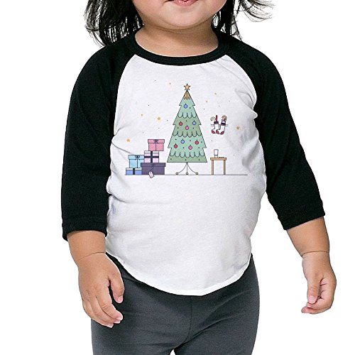 Susuha Cute Christmas Tree A Child's Sleeve Shoulder Shirt 2 Toddler (Cast Bath Two Light)