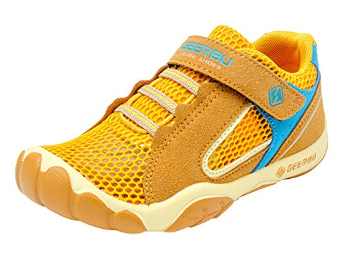 La Vogue Zapatos Zapatillas de Deporte para Niño Running Transpirable Amarillo