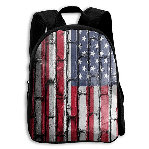 SARA NELL Kids School Backpack American USA Flag Wall Art Tr