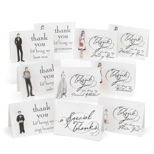 (Hortense B. Hewitt Bridal Party Thank You Cards Wedding Accessories, Set of 30)