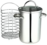 Roshco Stainless Steel 3-1/2-Quart Asparagus Steamer