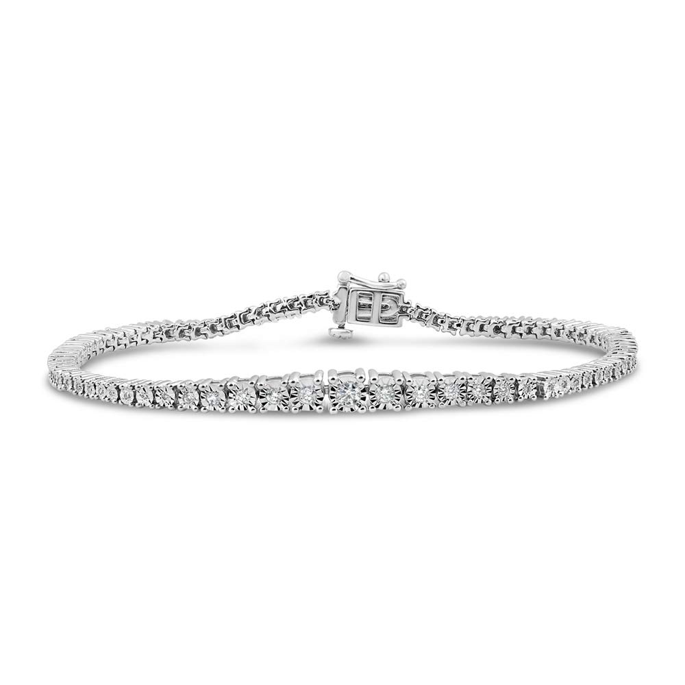 Diamond Tennis Bracelet 3/4 cttw in Sterling Silver - 7 Inches by Diamond Classic Jewelry