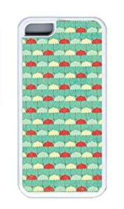 iPhone 5C Case, Personalized Custom Rubber TPU White Case for iphone 5C - Umbrellas Background Cover