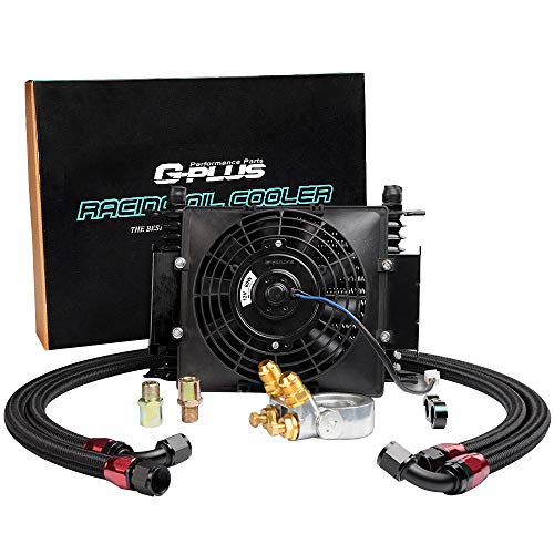 - Universal 15 ROW AN10 All-Aluminum Thermostat Adaptor Engine Oil Cooler + 7