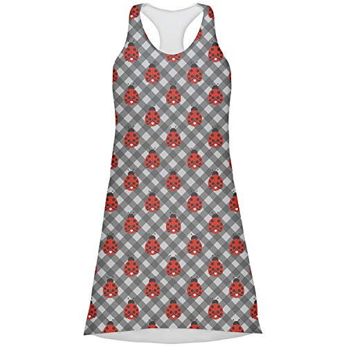 RNK Shops Ladybugs & Gingham Racerback Dress - X Large (Personalized) red