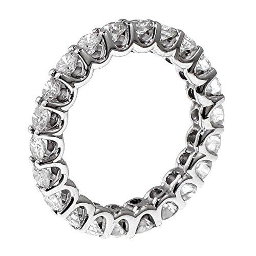 Prong Ring Eternity Setting (VIP Jewelry Art 1.80 CT TW Round Diamond Eternity Anniversary Wedding Band in 14k Gold U-prong Setting - Size 7)