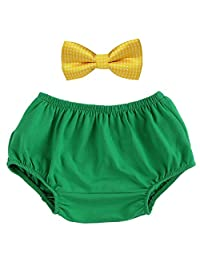 Baby Boys Cake Smash Outfit Bloomers Bowtie Set /Bow Ties - Various Designs Green One Size
