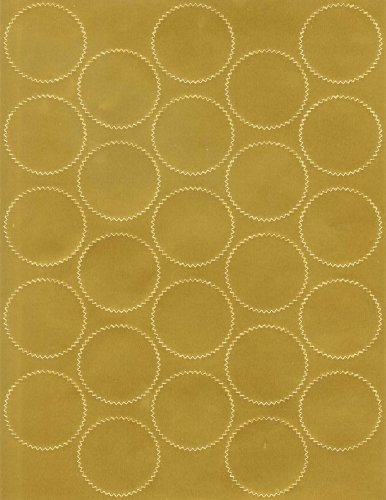 Geographics Certificate Gold Foil Seals, 1 3/4 Inches dia., Gold Foil, (44461),200 Pack. - Geographics Foil