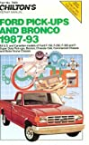 Chilton's Ford Pick-Ups & Bronco 1987-93 (Chilton Model Specific Automotive Repair Manuals)