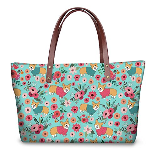 Moda Moda Coloranimal Corgi Moda donna Coloranimal Corgi Flower Coloranimal Flower donna wPqATI