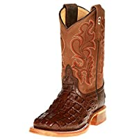 Horsepower Boots Boys Kid s Nile Print Cowboy Boots 6Y Chocolate