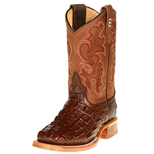 (Anderson Bean Boys Kid s Nile Print Cowboy Boots 9 Chocolate )