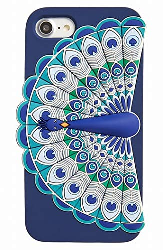 Kate Spade New York Silicone Peacock iPhone 7 Case, Blue Multi, iPhone 7 (Kate Spade New York Peacock Iphone 7 Case)