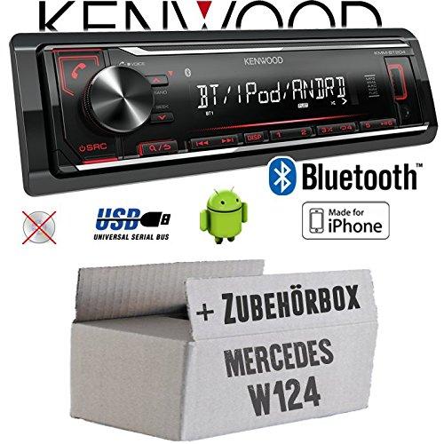 Mercedes W124 - Autoradio Radio Kenwood KMM-BT204 - Bluetooth | MP3 | USB | iPhone - Android - Einbauzubehö r - Einbauset JUST SOUND best choice for caraudio MBW124_KMM-BT204
