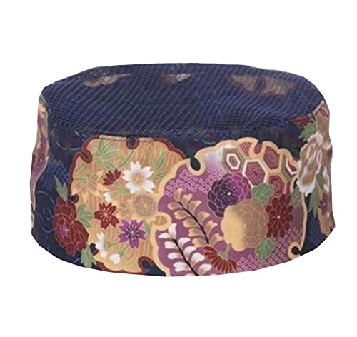 Japanese Style Chefs Hat Breathable Mesh,Adjustable Size (22.8''-23.6'') - A7 by DRAGON SONIC