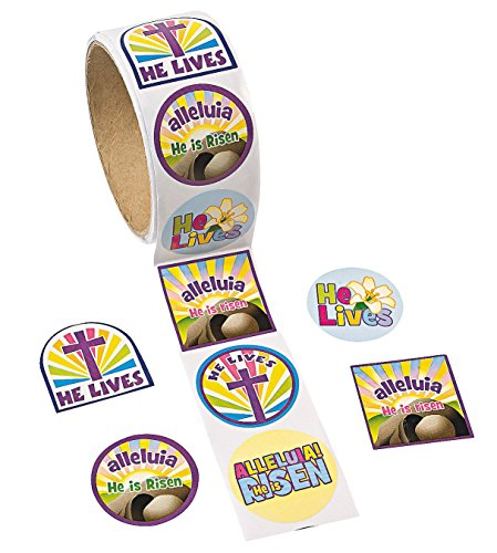 """Fun Express Easter """"He Lives!"""" Roll of Stickers (100 Piece)"""
