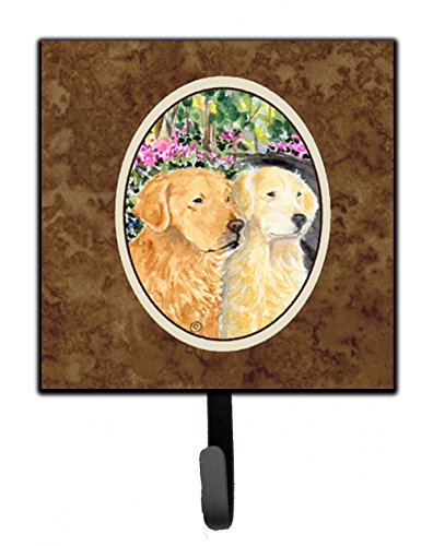 Caroline's Treasures SS8974SH4 Golden Retriever Leash Holder or Key Hook, Small, ()