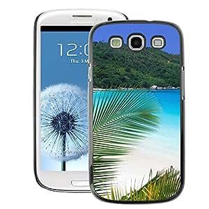 Snap-on Series Teléfono Carcasa Funda Case Caso para Samsung Galaxy S3 , ( Paradise Palm Beach )
