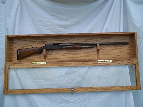 Single Gun Locking Wall Display Case by oakwoodgunracks.com