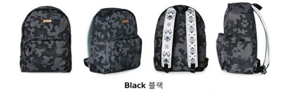 Musterbag Azteca Student Adult Backpack Camouflage Graphic Black