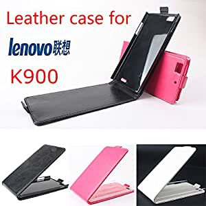 High Quality New Original Lenovo K900 Leather Case Flip Cover for Lenovo K 900 Case Phone Cover In Stock Free Shipping --- Color:Rose