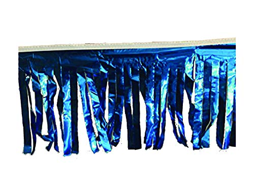 Worldwide Flags and Pennants 60 ft Double-Stitched Solid Blue Hurricane Metallic Fringe Pennant Long Lasting