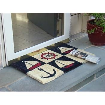 Amazon Com Kikkerland Anchor Doormat 30 By 18 Inch
