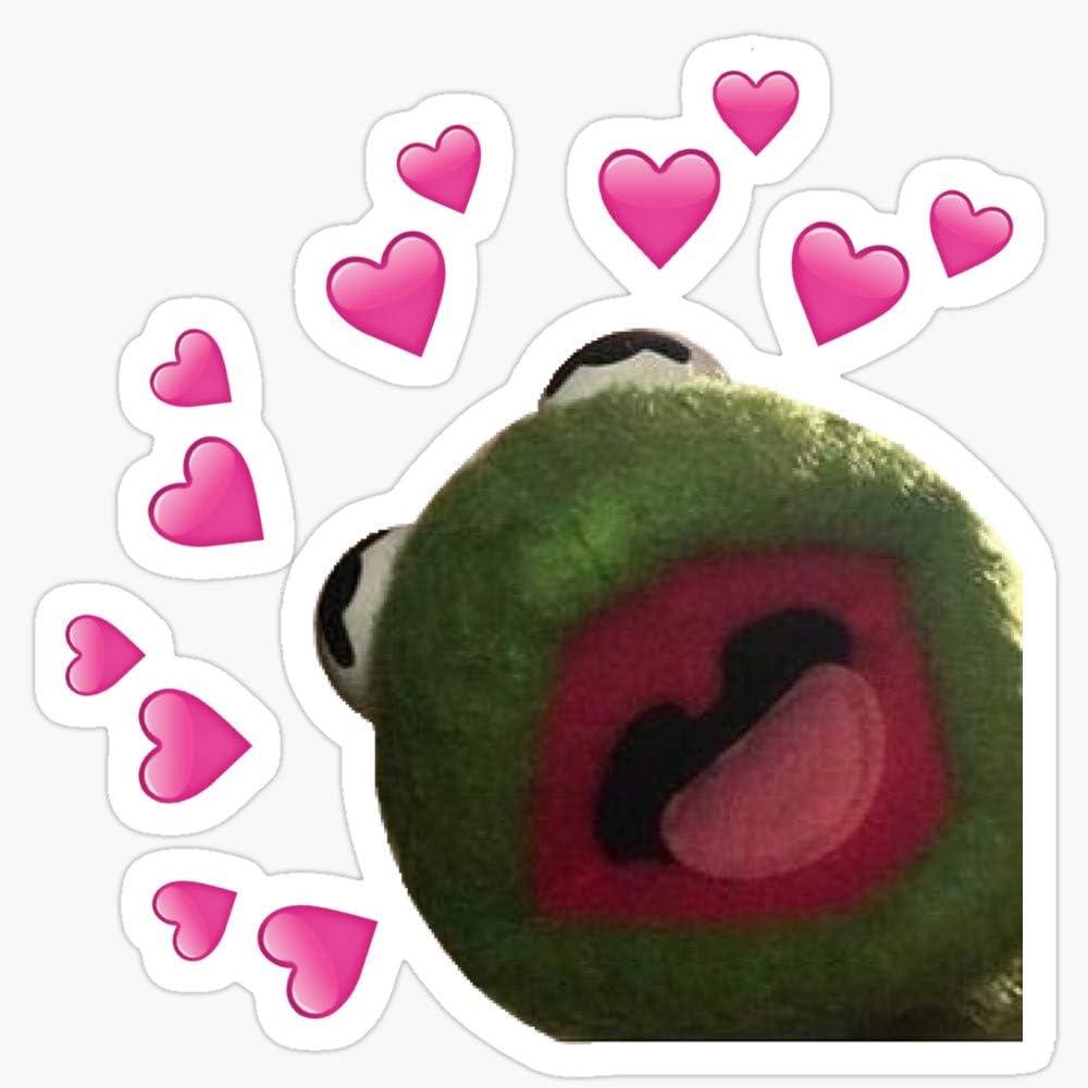 Amazon Com Kermit Heart Meme Stickers 3 Pcs Pack Kitchen Dining