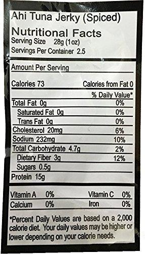 Itsumo Wild Ahi Tuna Jerky Spiced (3 Packs) - Premium Sashimi Grade Yellowfin Tuna Fish - Healthy & All Natural Ingredients - Paleo & Gluten Free Protein Snack