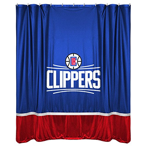 NBA Los Angeles Clippers Shower Curtain, 72 x 72, Bright Blue by Sports Coverage