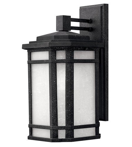 - Hinkley 1274VK Craftsman/Mission One Light Wall Mount from Cherry Creek collection in Blackfinish,