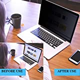 """VIUAUAX Laptop Privacy Screen 14"""" – Information Protection Privacy Filter for Laptop – Anti-Glare, Anti-Scratch, Blocks 96% UV – Matte or Gloss Finish Privacy Screen Protector – 16:9"""