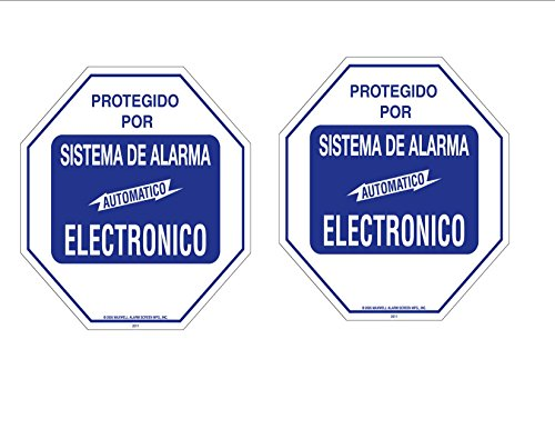 Security Decal #102S Spanish 2 Commercial Grade Burglar ALARM System Deterrence Warning! Decals #102 Spanish - Alarm Decals