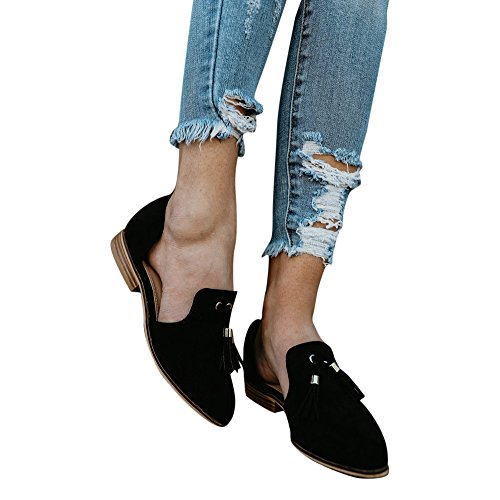 Shoes Stivali Women Fashion Equitazione Single Stivali Solid Ankle Ladies Romon Nero Tassels Autumn Yesmile Da Alti Shoes Donna Leather nqYwxFrqHB