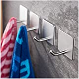 yigii towel hooksbathroom hook 3m self adhesive hooks office hooks hanging keys for - Bathroom Towel Hooks