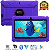 "Contixo Kids Tablet K2 | 7"" Display Android 6.0 Bluetooth WiFi Camera Parental Control Children Infant Toddlers w/Free Tablet Case (Purple)"