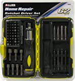 Allied Tools 66527 Home Repair 62 piece Ratcheting Driver Set