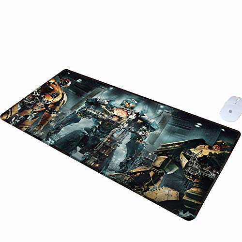 (Pacific Medium Mouse Pad Rim Large Gaming Mouse Pad Uprising Black Cloth Mousepad jaegers Saber Athena Gipsy Avenger Titan Lightweight for Easy Typing & Pain Relief Redeemer W15.7