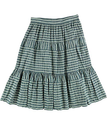 (Ralph Lauren Womens Seersucker Midi Skirt Blue 6)