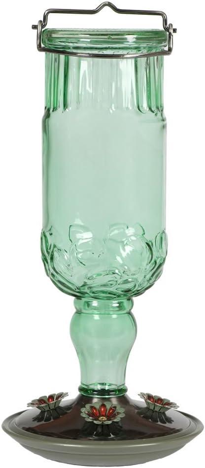 Perky-Pet 8120-2 Green Antique Bottle Hummingbird Feeder