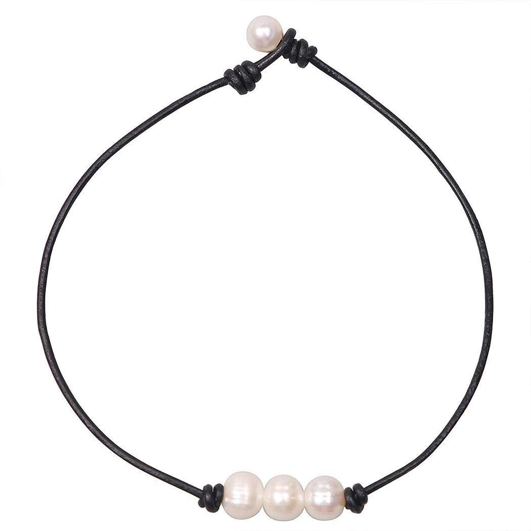 Hotstype Women Casual Charming White 3 Imitation Pearls Necklace Pendent Necklace Jewelry Pendants