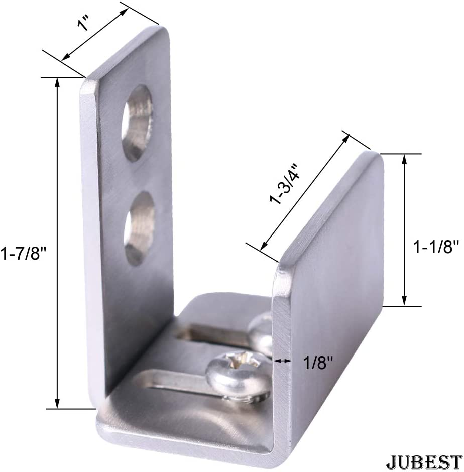JUBEST Barn Door Hardware Floor Guide Black Multiple Installation Styles Adjustable Bottom Sliding Door Guide