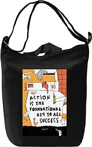 Key to success Borsa Giornaliera Canvas Canvas Day Bag| 100% Premium Cotton Canvas| DTG Printing|