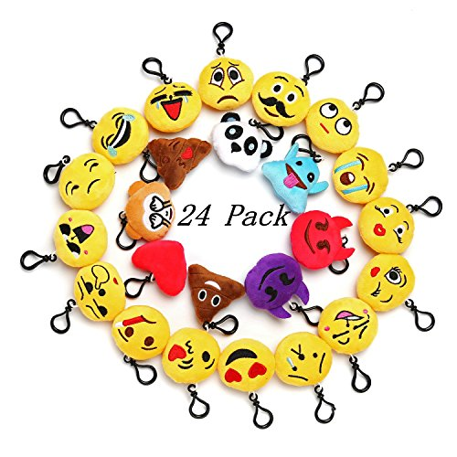 Emoji Mini Plush Pillows for Party Decorations ,2