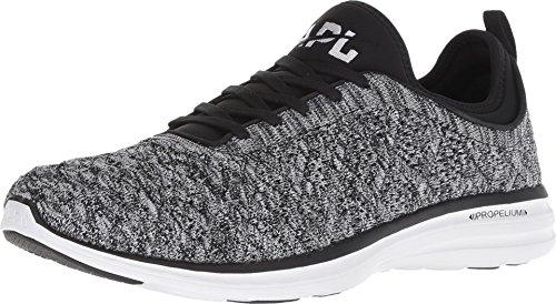 APL: Athletic Propulsion Labs Men's Techloom Phantom Running Sneakers, Black/White/Melange, 10...
