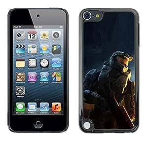 LASTONE PHONE CASE / Carcasa Funda Prima Delgada SLIM Casa Carcasa Funda Case Bandera Cover Armor Shell para Apple iPod Touch 5 / Soldier Master Sarge